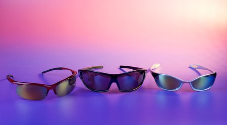 It is sunny - sunglasses inder color lighting photo
