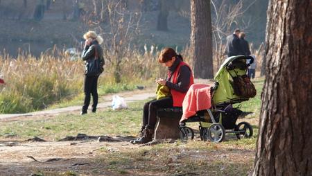 named: 10 November 2014, Kiev, the park named after Maksym Rylsky, Golosievo area.