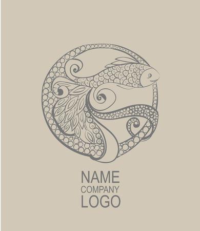 Doodle fish. Hand drawn vector illustration. aqua tattoo