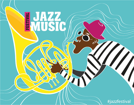 jazz music: Jazz music festival, poster background template. Keyboard with music notes. Flyer Vector design. Illustration