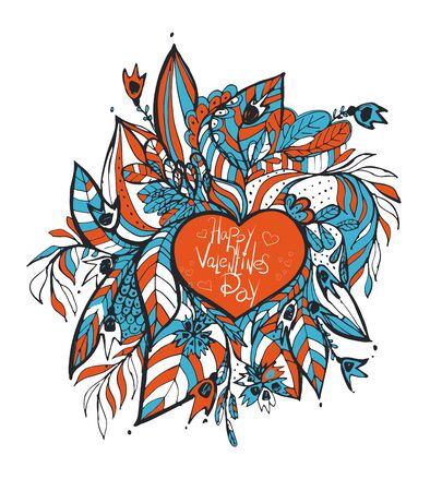 sketchy: sketchy love and hearts doodles, vector illustration Illustration