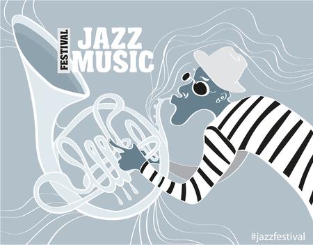 festival di musica jazz, poster modello sfondo.