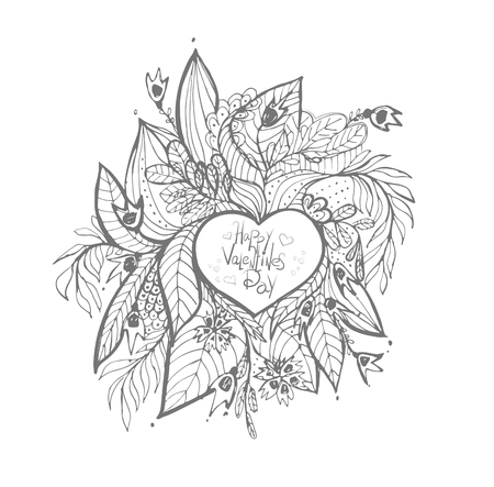 sketchy: sketchy love and hearts doodles, vector illustration Illustration