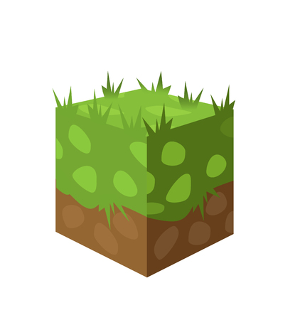 publicity: gaming background. a piece of land with grass. It may be used for illustration and Publicity