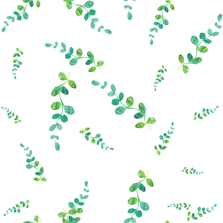 picture card: Beautiful nature background seamless pattern with herbs and leaves.. Floral seamless pattern with summer or spring herbs and leaves.. Stylish trendy wallpaper.