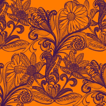 Russian Ethnic ornament, seamless pattern , decoration objects Stock Photo