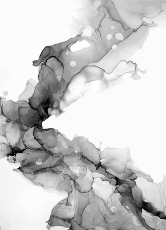 Abstract ink background. Chinese calligraphy art style, Black paint stroke texture on white paper. for poster, card, banner, book, cover, brochure and web design. Grunge mud art. vector elements. 向量圖像