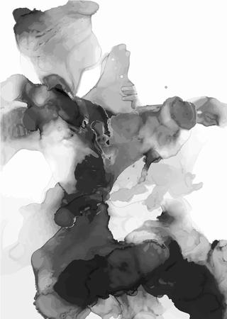 Inchiostro, pittura, astratto. Primo piano del dipinto. Sfondo colorato pittura astratta. Pittura ad olio ad alta consistenza. Dettagli di alta qualità. Vettoriali