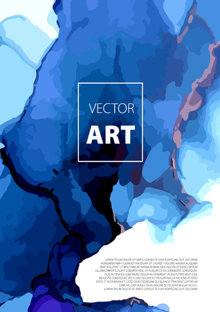 Vector creative trendy card. Abstract painting template. Handmade texture. can be used as a trendy background for wallpapers, posters, cards, invitations, websites. Marble effect painting Illustration