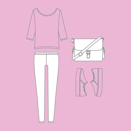 for women: Set of fashionable casual wear for women