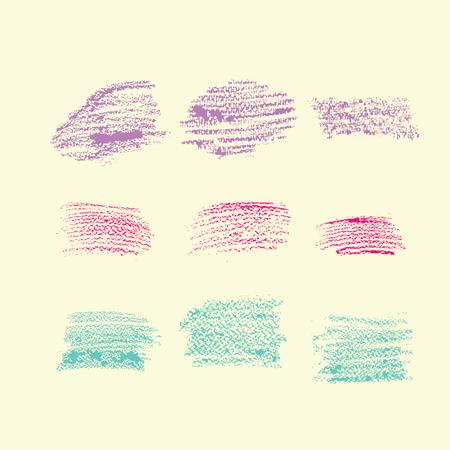 gentle: Strokes pencil in gentle colors Illustration