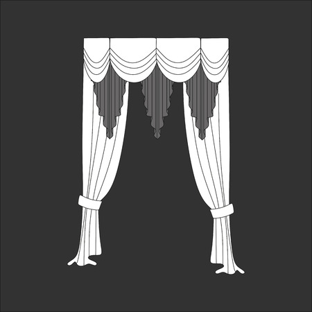 window curtains: curtains. window decoration.