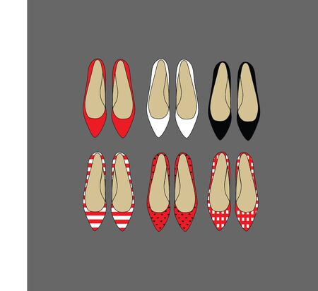 every day: colored shoes for every day. Illustration