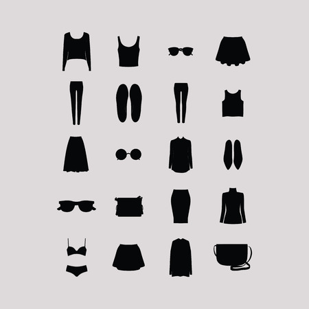 casual clothing: womens casual clothing and accessories. a set of womens clothing and accessories.