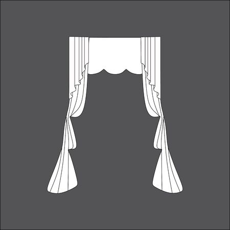 window curtains: Sketch design window curtains. Curtains.