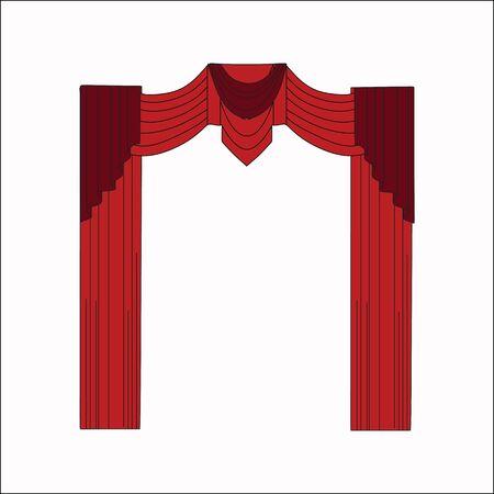 window curtains: interior decoration. sketch design window curtains.