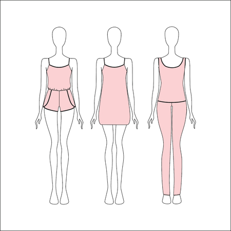 pyjamas: Pyjamas for women. Kit jersey home