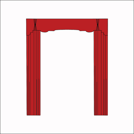window curtains: interior decoration. sketch design window curtains