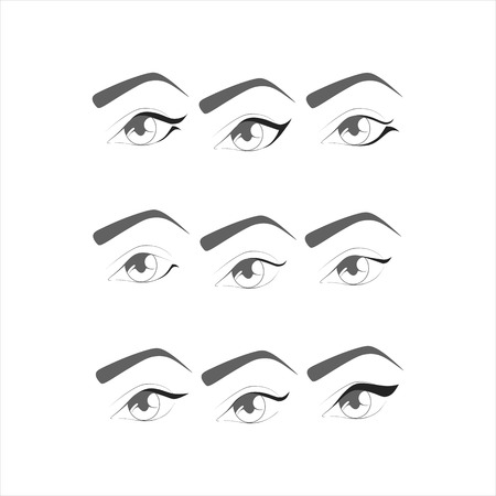 eye makeup: eye makeup. eyeliner on the eyes