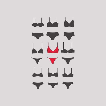 Ensemble lingerie Lingerie. culotte. soutien-gorge.
