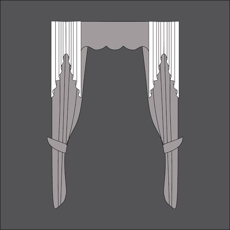 window curtains: Sketch design window curtains. Curtains.