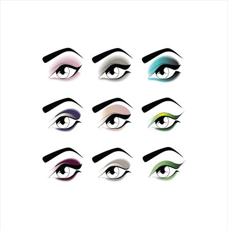 eyeshadow: eye makeup. eyeshadow Illustration