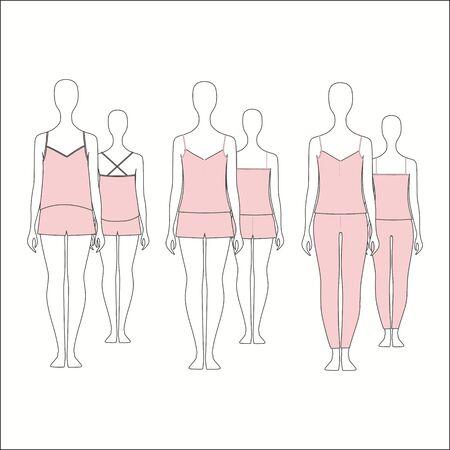for women: Pyjamas for women. shirt for girls night. top. shorts.