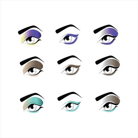 eye makeup: eye makeup. eyeshadow Illustration