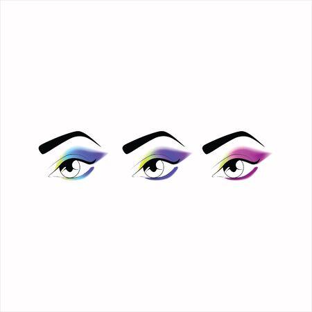 eyeshadow: makeup. eye makeup. various options for eye makeup. eyeshadow. the right eye makeup. professional makeup.