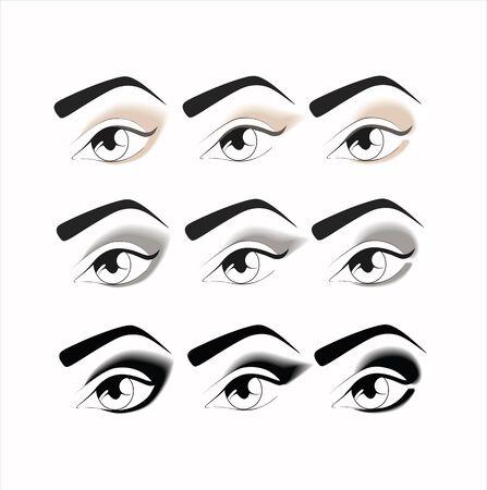 eyeshadow: makeup. eye makeup. various options for eye makeup. eyeshadow. the right eye makeup. professional makeup. Nude makeup. eye makeup every day.