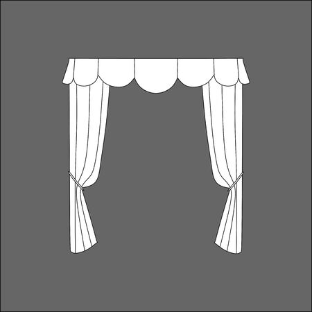 show window: curtains. curtains sketch.