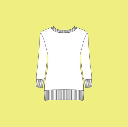 cardigan: jumper. pullover. cardigan. casual. womens clothing Illustration