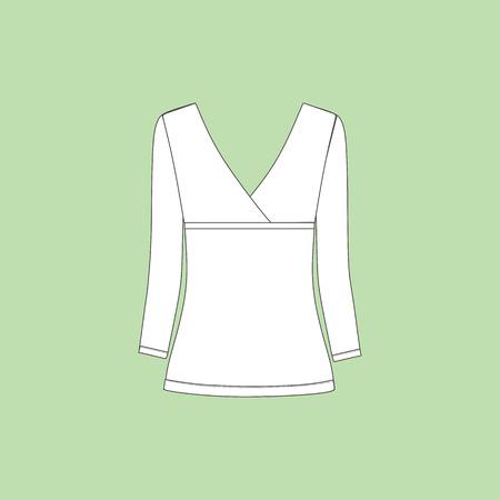 blusa: dama blusa de manga larga jersey.