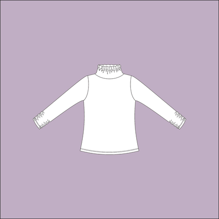 wear: jumper. blouse. womens clothing. casual wear. Illustration