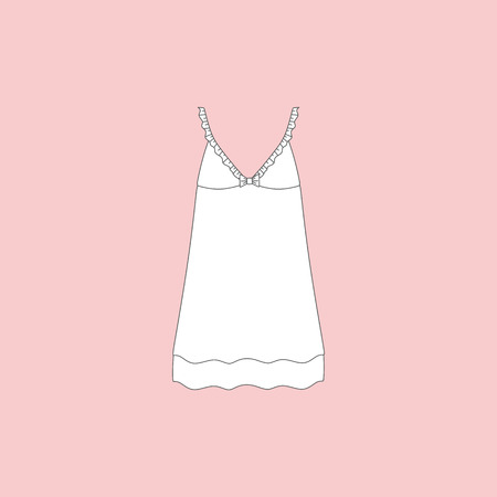 nightie. nightdress. womans house dress