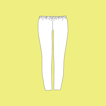 womens: pants. jeans. womens clothing. casual wear Illustration