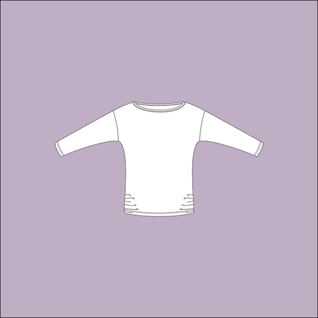 womens clothing: jumper. blouse. womens clothing. casual wear. Illustration