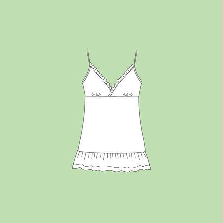 blouse: top. shirt summer. blouse lady summer. Illustration