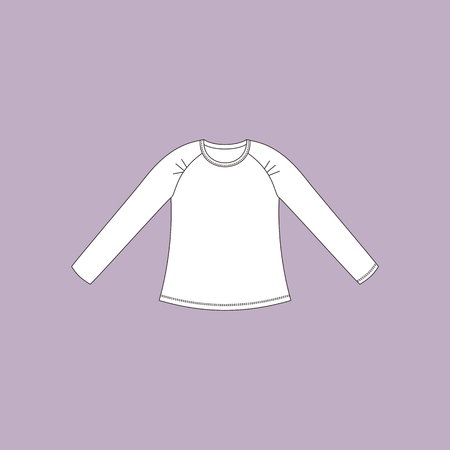 casual clothing: jumper. blouse. womens clothing. casual wear. Illustration