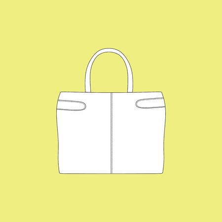 designer bag: a bag. Ladys bag. accessory. casual Illustration