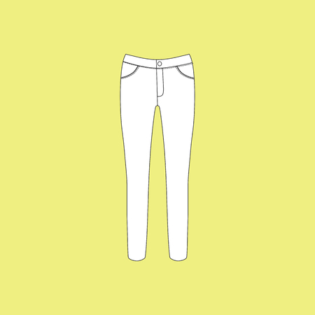 casual: pants. jeans. womens clothing. casual wear Illustration