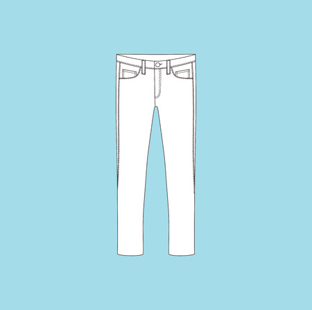 casual clothing: pants. jeans. womens clothing. casual wear Illustration