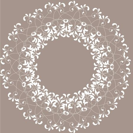 doily: Vector decorative lace frames. Doily templates for logo, names Illustration