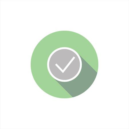 designation: vector illustration of a tick icon. selection. designation.