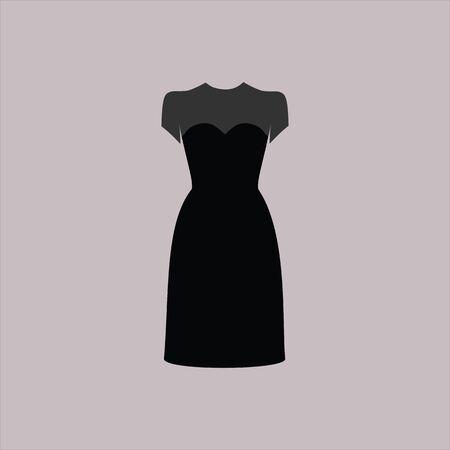 casual: dress women drawn vector. casual wear.