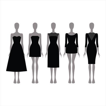 black dress: Evening Dress. Black festive attire