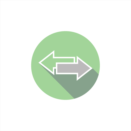 forth: vector illustration arrow icons back and forth. direction. pointer.