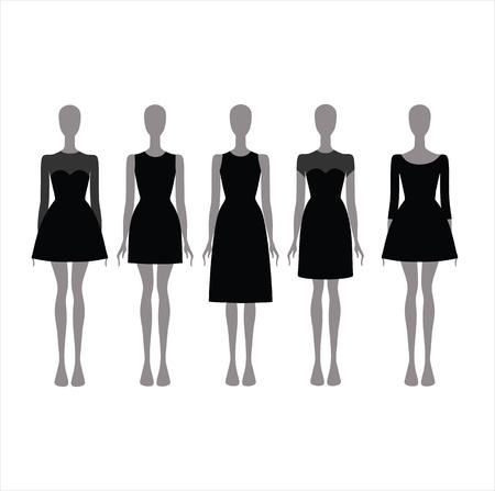attire: Evening Dress. Black festive attire