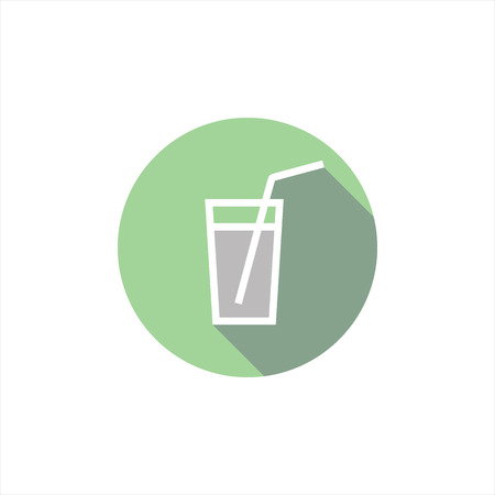 tubule: vector illustration icon glass. drink. Tubules for cocktail Illustration