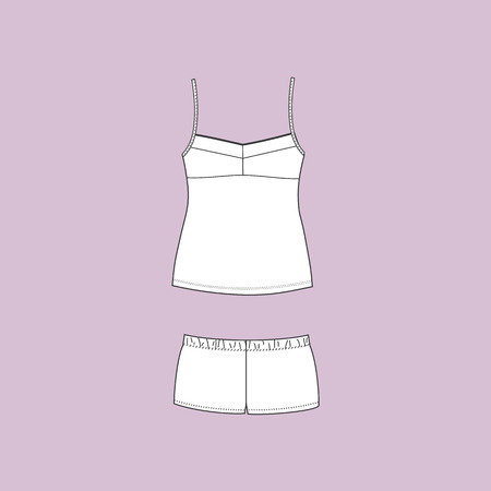 for women: Pyjamas for women. pajamas jersey. homewear. shorts. top.